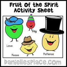 Fruit of the Spirity Activity Sheet for Sunday School - Fruit of the Spirit Sunday School Lesson from www.daniellesplace.com
