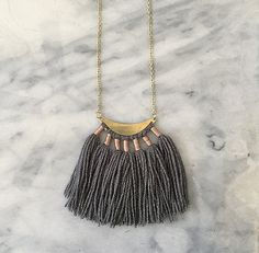 No. 1 // Fiber Necklace // Tassel Necklace