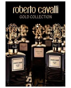 """A baroque and luxurious vision of the Italian dolce vita"""" - read the phrase that describes the new exclusive collection from designer Roberto Cavalli. Roberto Cavalli Gold Collection consists of six unisex Middle East editions: Sumptuous Rose, Baroque Musk, Golden Amber, Supreme Sandal, Royal Iris and Divine Oud. The perfumes are made from high-quality ingredients such as Bulgarian rose, sandalwood from Sri Lanka or Italian iris."""
