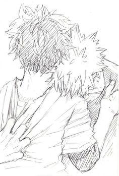 Bakugou Katsuki x Midoriya Izuku / Boku no Hero Academia My Hero Academia, Fanfiction, Wattpad, Anime Sketch, Manga, Webtoon, Kawaii, Fantasy, Drawings