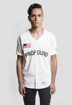 Profound Aesthetic Baseball Jersey in Off-White http://profoundco.com/collections/jerseys/products/baseball-jersey-off-white