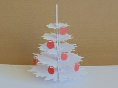Pop Up Christmas Tree gift that folds flat and fits in a card.