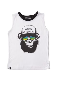 MINI AND MAXIMUS HOME GROWN MUSCLE TANK TOP