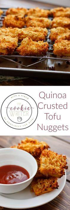 "Quinoa Crusted Tofu Nuggets (Tofu ""Chicken"" Nuggets!)"