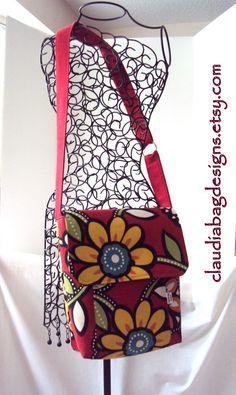 Metro #Messenger #Hip_Bag  #Diaper_Bag  #Purse  by ClaudiaBagDesigns, $38.00