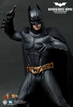 """""""Batman/Bruce Wayne (Batsuit Begins Version) (2005)"""" 1/6th Scale Collectible Figurine by HOT TOYS (Hong Kong)   Release date: 3rd Quarter of 2011   Features authentic and detailed fully realized likeness of Christian Bale as Batman/Bruce Wayne in the Batman Begins (2005) movie. Approximately 30 cm tall.   SOURCE: http://www.hottoys.com.hk/productDetail.php?productID=47 → #Batman   #HotToys   #CollectibleFigurine"""