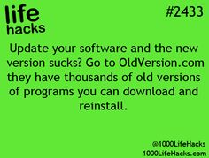 hate new software?