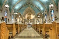 Interior of Historic St. Mary's Church, Lancaster, PA