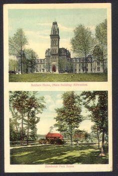 Milwaukee 1909 Soldiers Home Humboldt Park Postcard   eBay