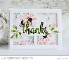 Flashy Florals Stamp Set and Die-namics, Thanks & Hello Die-namics, Gift Box Cover-Up Die-namics - Inge Groot  #mftstamps
