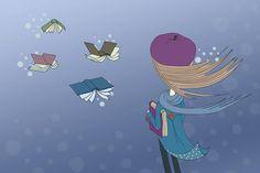 livros voadores...
