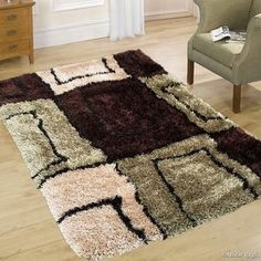 "Shop for Allstar Brown Mint High Density and High Quality High End Shaggy Area Rug. Very Soft Extra comfort (4' 11"" x 7'). Get free shipping at Overstock.com - Your Online Home Decor Outlet Store! Get 5% in rewards with Club O!"