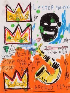 Afrofuturism Art and Photographs Jean-Michel Basquiat Jean Basquiat, Jean Michel Basquiat Art, Banksy, Basquiat Paintings, Basquiat Artist, Street Art, Art Brut, Outsider Art, American Artists