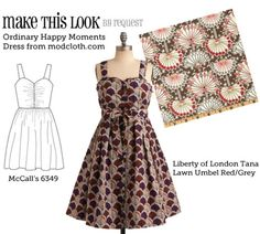 (via MTL: Ordinary Happy Moments Dress - The Sew Weekly Sewing Blog & Vintage Fashion Community)