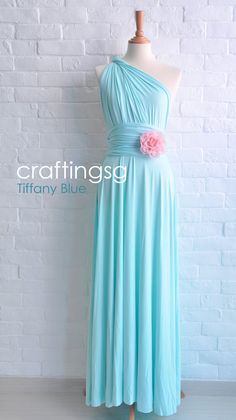 Bridesmaid Dress Infinity Dress Tiffany Blue Floor by craftingsg, $50.00 @Theresa George @Terronda Richardson