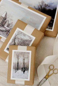 как красиво оформить подарок в пакете