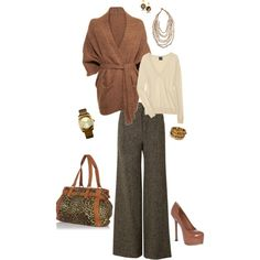 """comfy but professional... :-)"" by stacychidaushe on Polyvore"