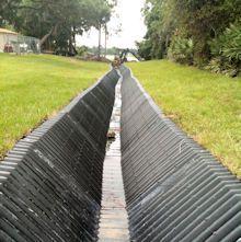 how to make a concrete drainage ditch