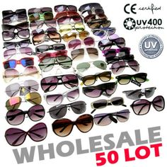 d9631050983 Lot contains 50 pairs of mixed styles sunglasses and colors sunglasses.  Great retail value on these sunglasses. Contains designer inspired styles.