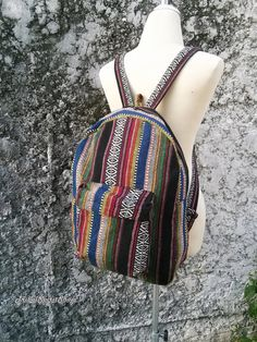 Boho Tribal Backpack Aztec Ethnic Hippies by TribalSpiritShop