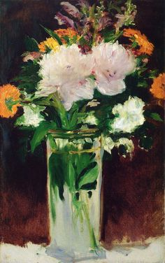 Edouard Manet - Flowers in a Vase, 1882 at Oskar Reinhart Art Collection Winterthur Switzerland