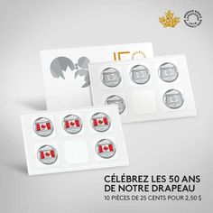 The Royal Canadian Mint proudly pays tribute to our beloved national symbol by issuing commemorative circulation coin. Check out our Coin Pack! Canadian Coins, National Symbols, Circulation, True North, Canada Day, Effigy, Us Coins, Coin Collecting, Flag