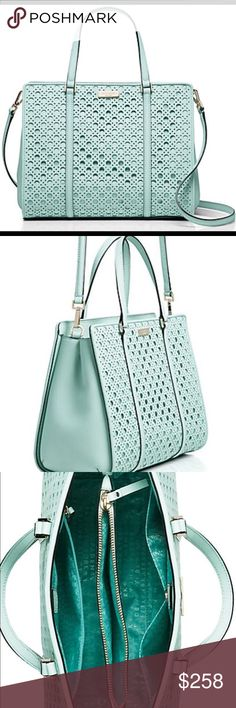 Teal Kate Spade Brand New Light Teal color GORGEOUS Kate Spade purse! Brand New, tags still on❤️ kate spade Bags Satchels
