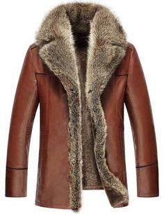 mens brown jacket winter