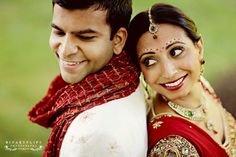 Indian Bride and Groom Portrait! Aline for Indian weddings