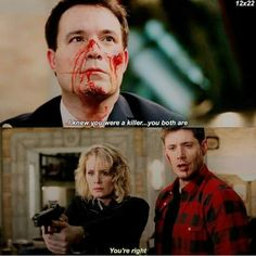 Say goodbye, Mr. Spn Season 12, Supernatural Season 12, Supernatural Destiel, Dean Winchester, Jensen Ackles, Claire Novak, 2 Brothers, Cockles, Forever Living Products