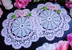 New hand crochet doilies set of two by nijole0626 on Etsy, $24.99