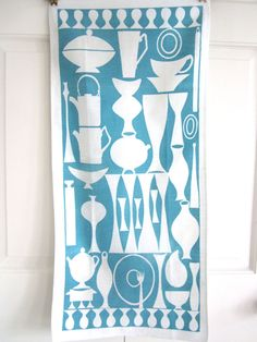 Vintage Dish Towel MID CENTURY MODERN Eames at NeatoKeen on Etsy