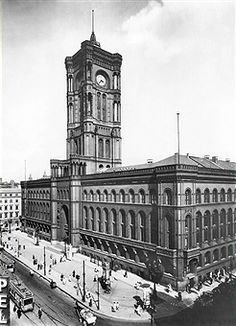 Rotes Rathaus Berlin-Aussenansicht ca 1920.