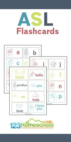 Sign Language Colors, Sign Language Words, Sign Language Alphabet, American Sign Language, Printable Flashcards, Color Flashcards, Sight Word Flashcards, Free Printable Flash Cards, Common Core Preschool