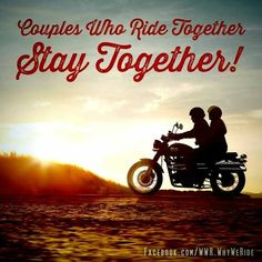 Riding together is awesome! Whether on the back of his bike, or by his side on my own bike.riding as a couple rocks! Biker Couple, Motorcycle Couple, Motorcycle Outfit, Harley Davidson Quotes, Harley Davidson Motorcycles, Harley Bikes, Victory Motorcycles, Indian Motorcycles, Easy Rider