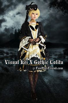 Gothic Lolita Aristocrat Visual Kei Rococo Black Outfit*3pcs
