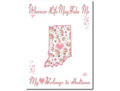 Art Print Hearts and Flowers Indiana My by PatriotIslandDesigns, $14.00