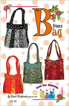 Cute bag! This is a great bag to use up your scraps. the bag is made from 3 strips of fabric.