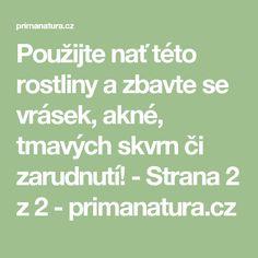Použijte nať této rostliny a zbavte se vrásek, akné, tmavých skvrn či zarudnutí! - Strana 2 z 2 - primanatura.cz