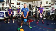 1. Kettlebell Workouts • BEGINNERS WORKOUT  This only takes about 10 min and it put me a little out of breath.  If you are a Kettlebell pro, this is probably a little light for you.