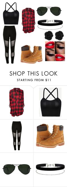 """""""hip hip hop"""" by jenadieu ❤ liked on Polyvore featuring River Island, Timberland, Ray-Ban and Miss Selfridge"""