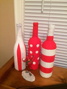 Fun with red & white wine bottles