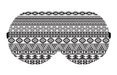 Aztec Tribute Tribal White Black Sleep Eye Mask Masks Sleeping Blindfold Night Eyes cover covers patch wear wears Eyewear Travel Blindfolds by venderstore on Etsy