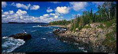 michigan national parks   Rocky Lakeshore. Isle Royale National Park, Michigan, USA. (Panoramic)