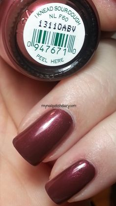 OPI I Knead Sour-Dough is from the fall 2013 San Francisco collection. OPI I Knead Sour-Dough is a brown based red with red shimmer....