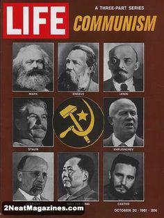 Life Magazine October 20, 1961 : Cover - eight communist leaders.