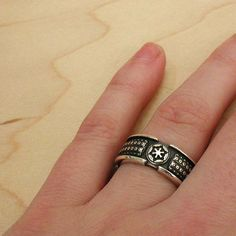 Imperial Lightsaber Ring Sterling Silver by SwankMetalsmithing