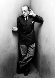 I know that the twelve notes in each octave and the variety of rhythm offer me opportunities that all of human genius will never exhaust. ~ Igor Stravinsky / photo by Irving Penn