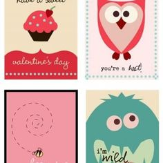 Cute!  Free Valentine's Card Printable