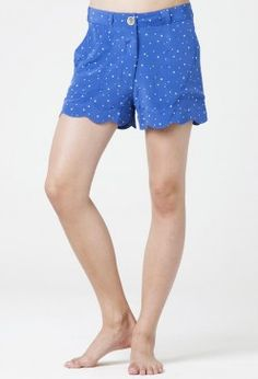 The SCALLOP SHORT - MID RISE, FLIRTY SHORT - Star Print Silk - MiH